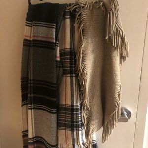 3 scarfs (2 from garage, one from fashion nova)